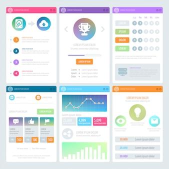 Design de interface do usuário móvel plana