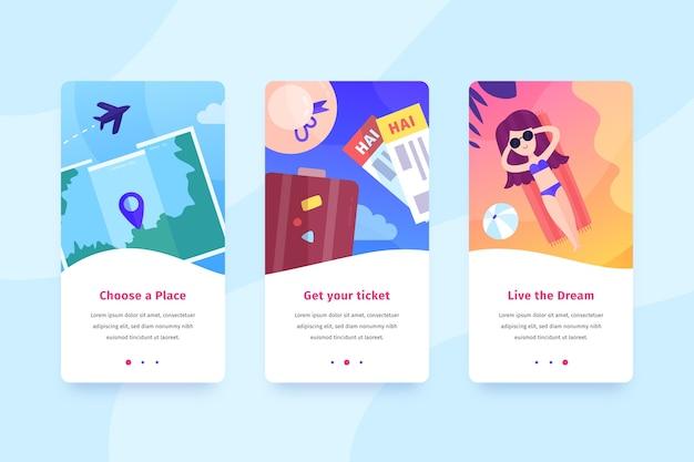 Design de interface móvel de viagem