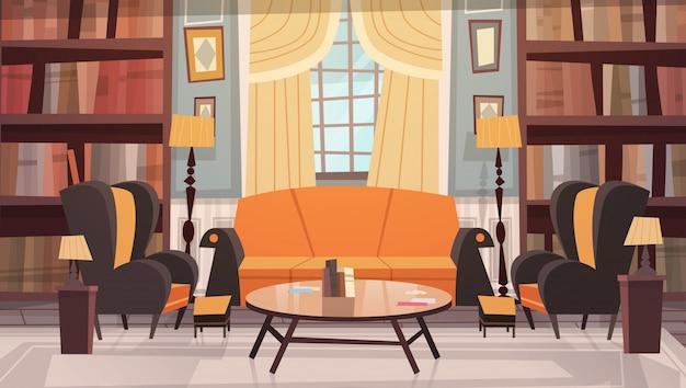 Design de interiores aconchegante sala de estar com móveis