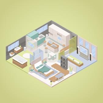 Design de interiores de apartamentos modernos de alta tecnologia
