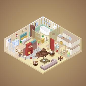 Design de interiores de apartamentos rurais