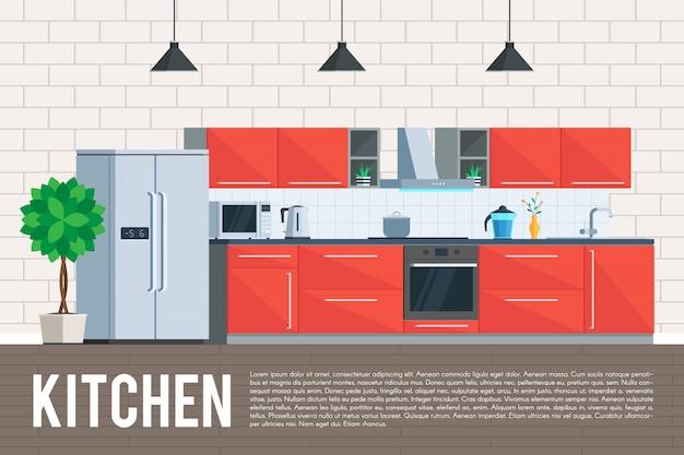 Design de interiores de cozinha