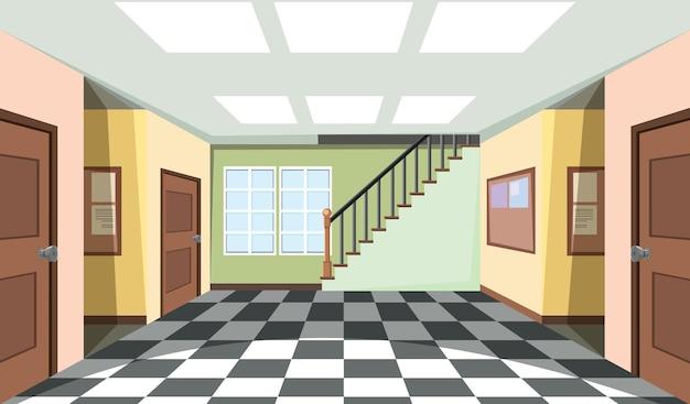 Design de interiores de sala vazia