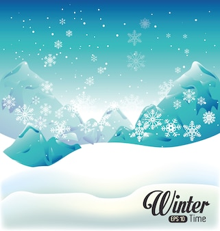 Design de inverno, ilustração vetorial.