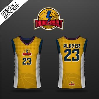 Design de jersey de basquete
