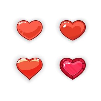 Design de jogo de coração 3d. ícone de jogo de coração 3d