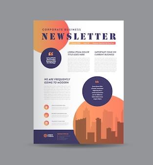 Design de jornal, design de relatório mensal ou anual