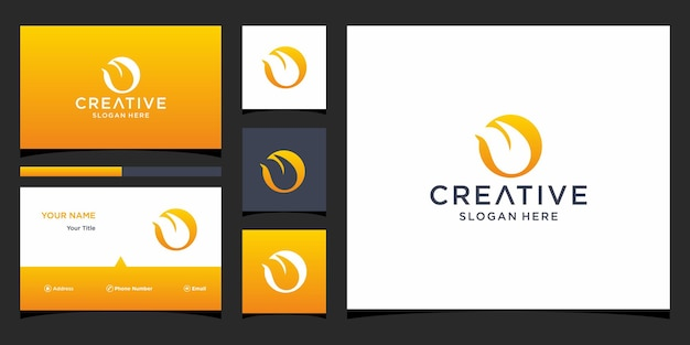 Design de lábios de logotipo com modelo de cartão de visita