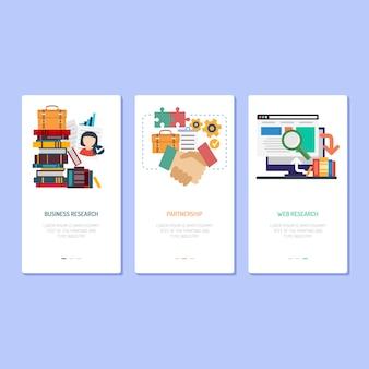 Design de landing page - pesquisa, parceria e pesquisa na web