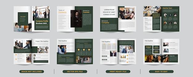 Design de layout de modelo com página de capa para design de brochura comercial ou perfil da empresa