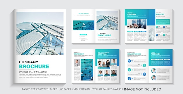 Design de layout de modelo de brochura de perfil da empresa ou design mínimo de brochura de empresa