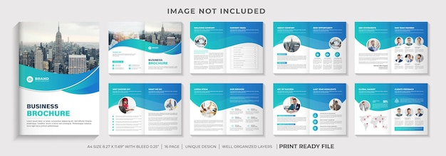 Design de layout de modelo de folheto de perfil da empresa ou design de modelo de folheto corporativo com várias páginas