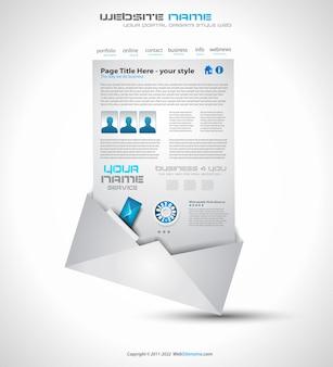 Design de layout de site para negócios