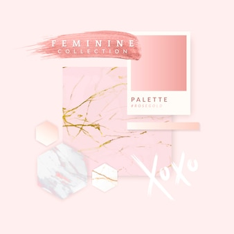 Design de layout rosa feminino