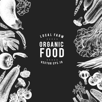 Design de legumes desenhados à mão