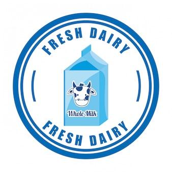 Design de leite sobre fundo branco