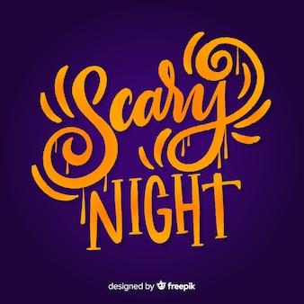 Design de letras assustador halloween dia das bruxas