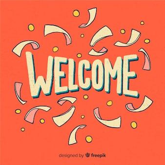Design de letras bem-vindo elegante