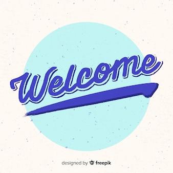 Design de letras bem-vindo moderno