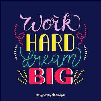 Design de letras com citação motivacional