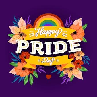 Design de letras com dia do orgulho
