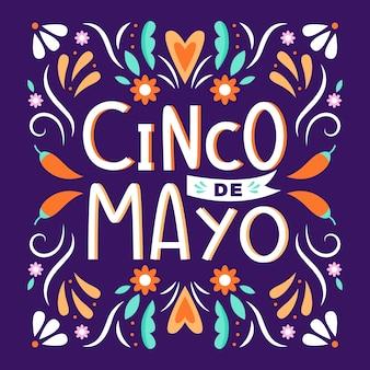 Design de letras de cinco de maio