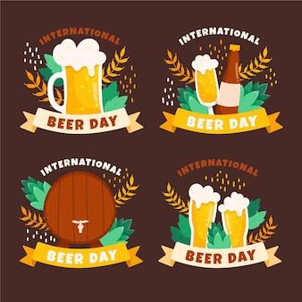 Design de letras de dia internacional da cerveja