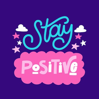 Design de letras de mente positiva