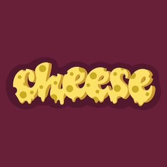 Design de letras de queijo