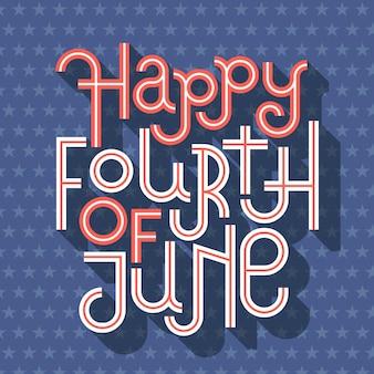 Design de letras do dia da independência