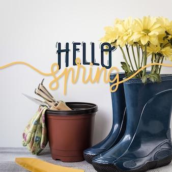 Design de letras primavera com foto