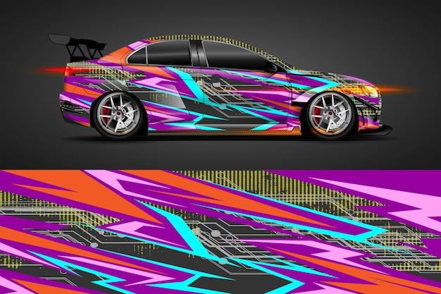 Design de libré de carro com fundo abstrato esportivo
