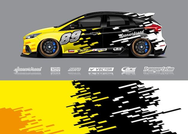 Design de libré para carro de corrida