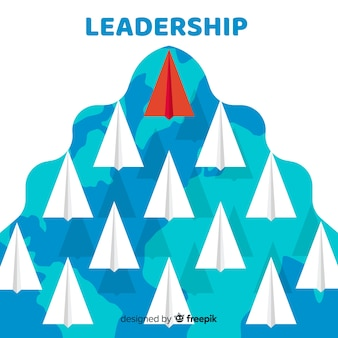 Design de liderança com aviões de papel