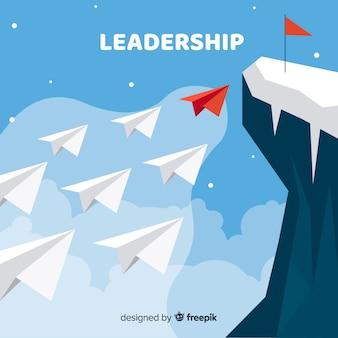 Design de liderança em estilo simples