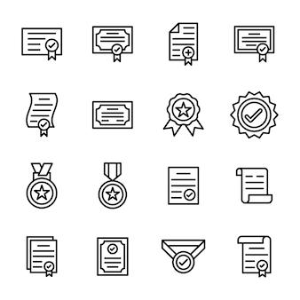 Design de linha de certificado verificado