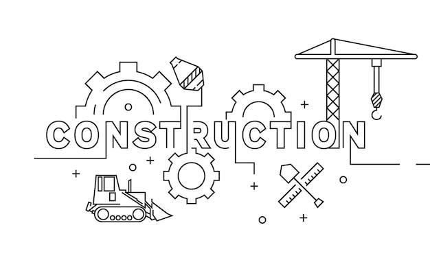 Design de linha plana de construção