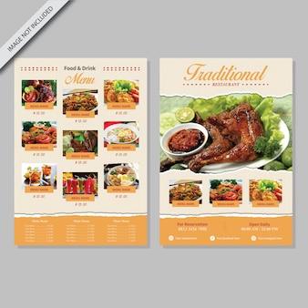Design de livro de menus