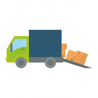 Design de logística de transporte