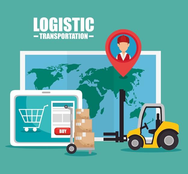 Design de logística e transporte