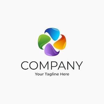 Design de logotipo abstrato colorido empresa gradiente