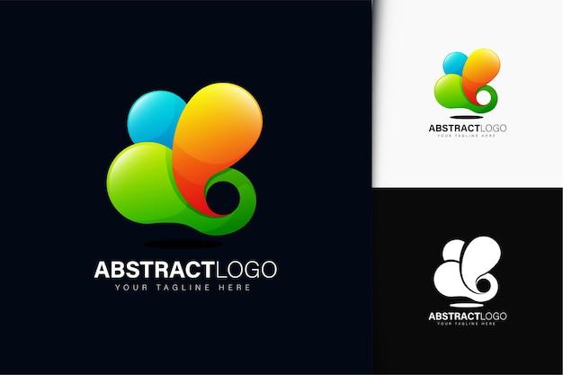 Design de logotipo abstrato com gradiente