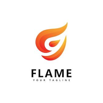 Design de logotipo abstrato de chama de fogo