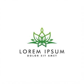 Design de logotipo abstrato de flor, natureza icon ilustração