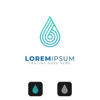 Design de logotipo abstrato de gota de água