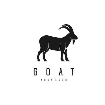 Design de logotipo abstrato de ilustração colorida de cabra cabeça