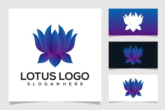 Design de logotipo abstrato de lótus