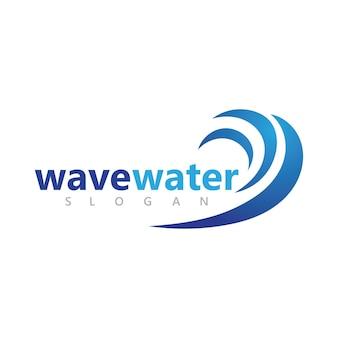 Design de logotipo abstrato de ondas de respingos de água