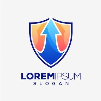 Design de logotipo abstrato de seta colorida