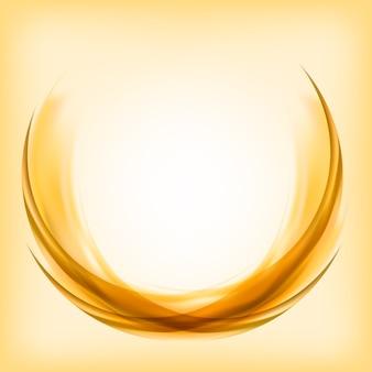 Design de logotipo abstrato em amarelo